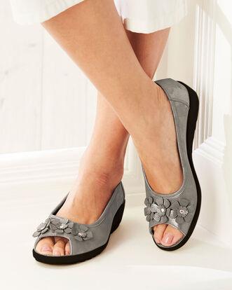 Flexisole Peep Toe Flower Shoes