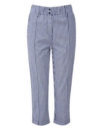 Elastic Waist Crop Pants