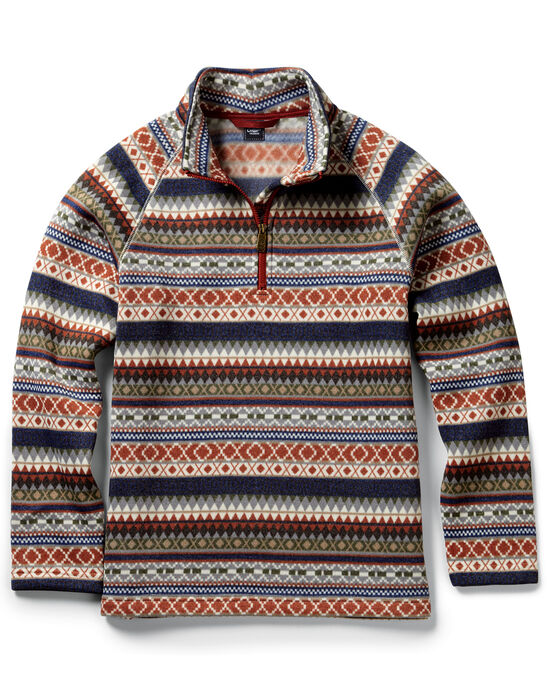 Knitted Patterned Half Zip Top