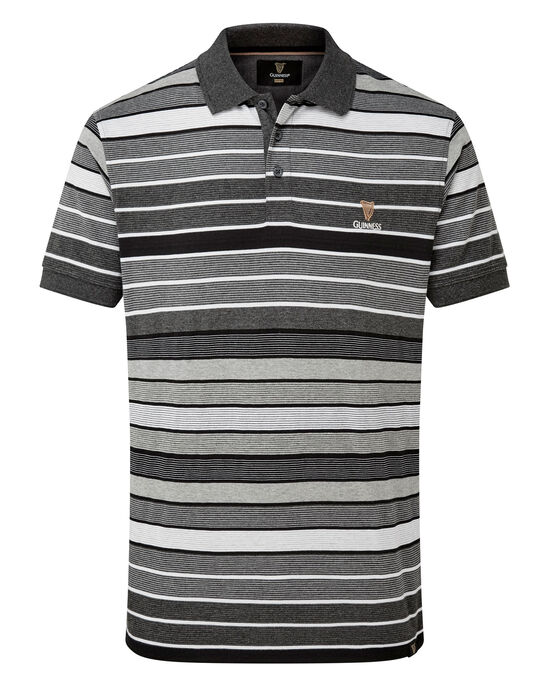 Guinness Short Sleeve Stripe Polo Shirt