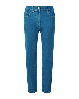 Side Elastic Waist Jeans