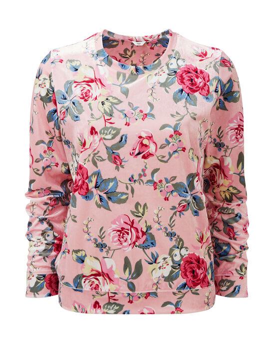 Velour Printed Sweatshirt
