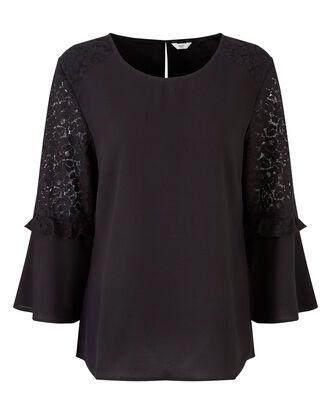 Black Sleeve Detail Blouse