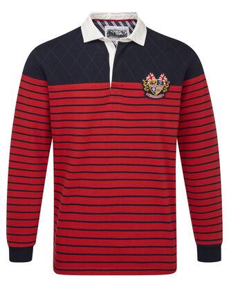 Three Lions Long Sleeve Stripe Panel Rugby Shirt