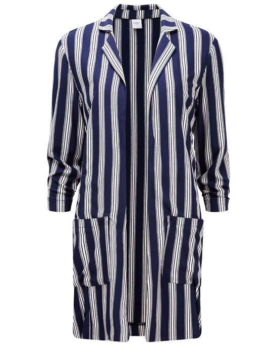 Stripe Longline Jacket