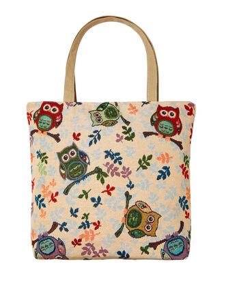 Embroidered Owl Bag