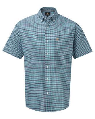 Guinness Short Sleeve Oxford Gingham Check Shirt