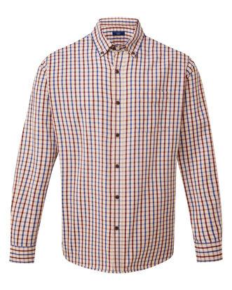 Almond Long Sleeve Tattersall Twill Check Shirt