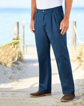Pleat Front Comfort Pants