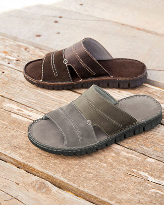 Leather Mix Mule Sandal