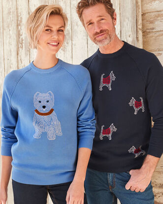 Cotton Crew Neck Dog Sweater