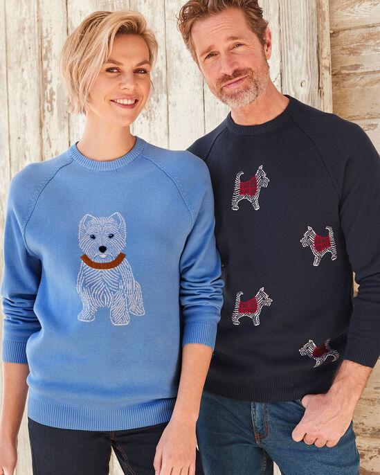 Cotton Crew Neck Dog Sweater
