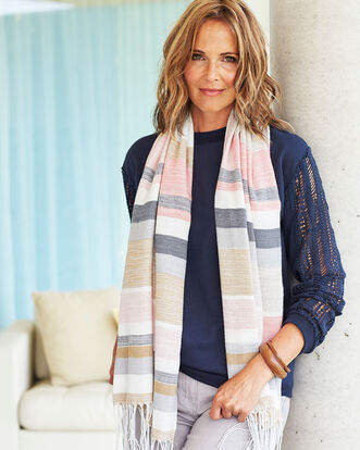 Soft Brushed Stripe Scarf