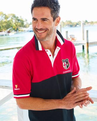 Guinness Short Sleeve England Polo Shirt