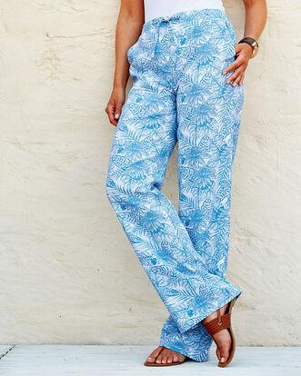 Linen-blend Pull-on Pants