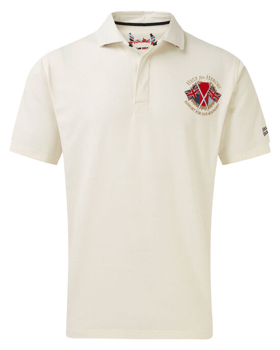 0aca5a70951 Help For Heroes Short Sleeve Embroidered Rugby Shirt at Cotton Traders