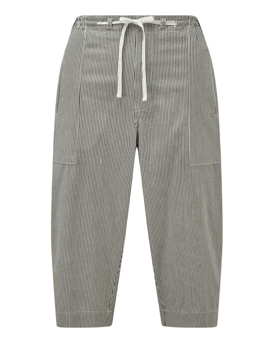 Cotton Pull-on Crop Pants