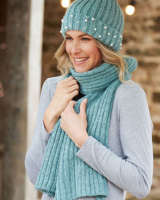 Beaded Hat and Scarf Set