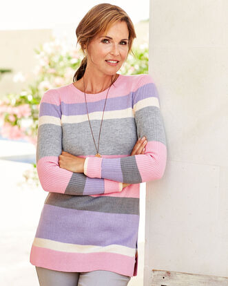 Knitted Stripe Tunic