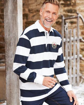 Long Sleeve Classic England Stripe Rugby Shirt