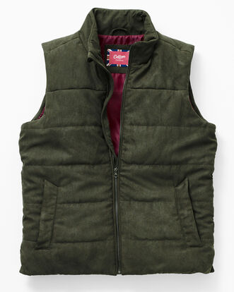Faux Suede Padded Vest