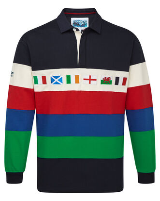 6 Nations Stripe Rugby Shirt
