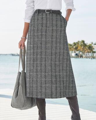 Black Side Elastic Waist Skirt