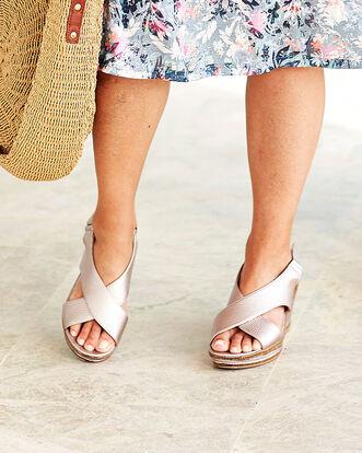 Adjustable Wedge Sandals