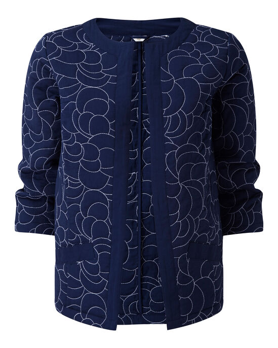 Embroidered Quilted Jacket