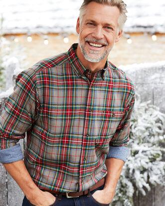 Light Grey Flannel Check Shirt
