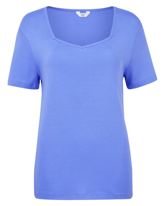 Wrinkle Free Sweetheart Neck Top