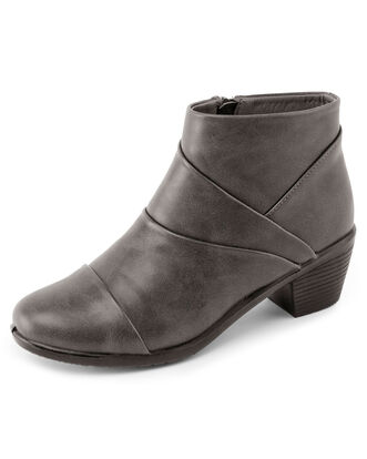 Pleat Detail Ankle Boots