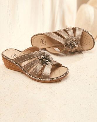 Flower Mule Sandals