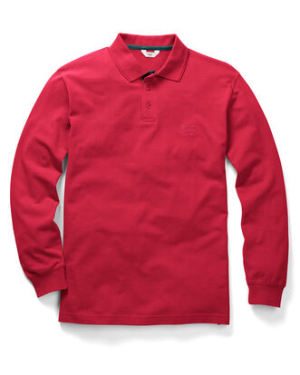 Classic Red Long Sleeve Polo Shirt