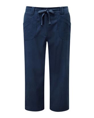 Wrinkle Free Pull-on Crop Pants