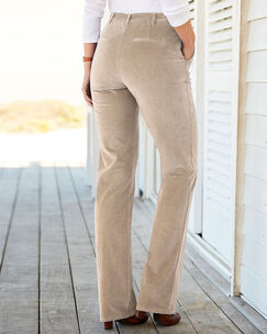 Adjustable Waist Cord Pants