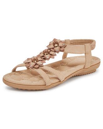 Flower Elastic Sandals