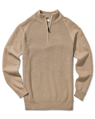 Cotton Half Zip Sweater