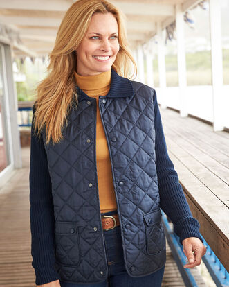 Lowland Knitted Quilted Jacket