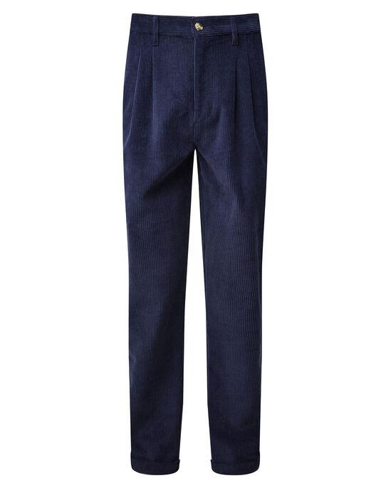 Pleat Front Cord Pants
