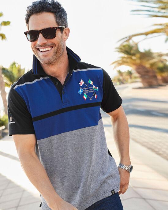 Guinness Six Nations Stripe Polo Shirt