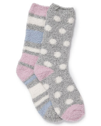 Pack of 2 Cozy Bed Socks