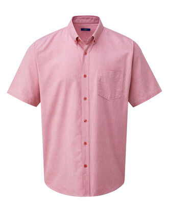 Pale Coral Short Sleeve Classic Oxford Shirt