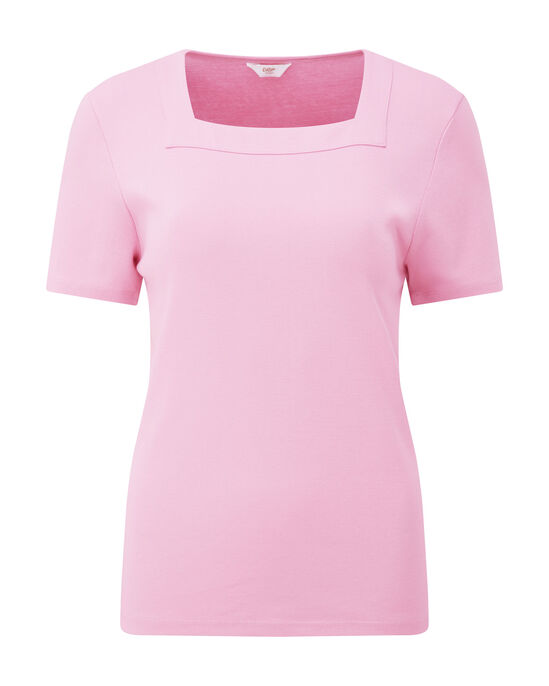 Wrinkle Free Square Neck Top