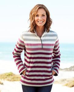 Stripe Cut and Sew Sweatshirt