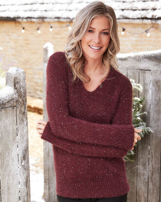 Sequin Fluffy Sweater