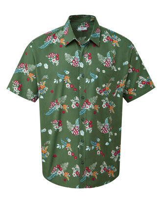 Floral Print Short Sleeve Soft Touch Shirt
