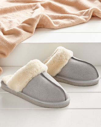 Suede Mule Slippers