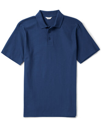 French Navy Organic Cotton Polo Shirt