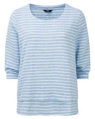 Stripe Linen-blend Top